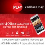 Free Vodafone 400 MB Data